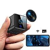 Mini Kamera, Full HD 1080P Tragbare Kleine WLAN Überwachungskamera...