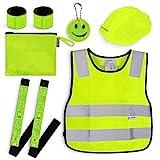 Navaris Sicherheits Set 7-teilig für Kinder - Warnweste für...