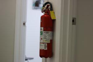 Feuerlöscher in der Wohnung